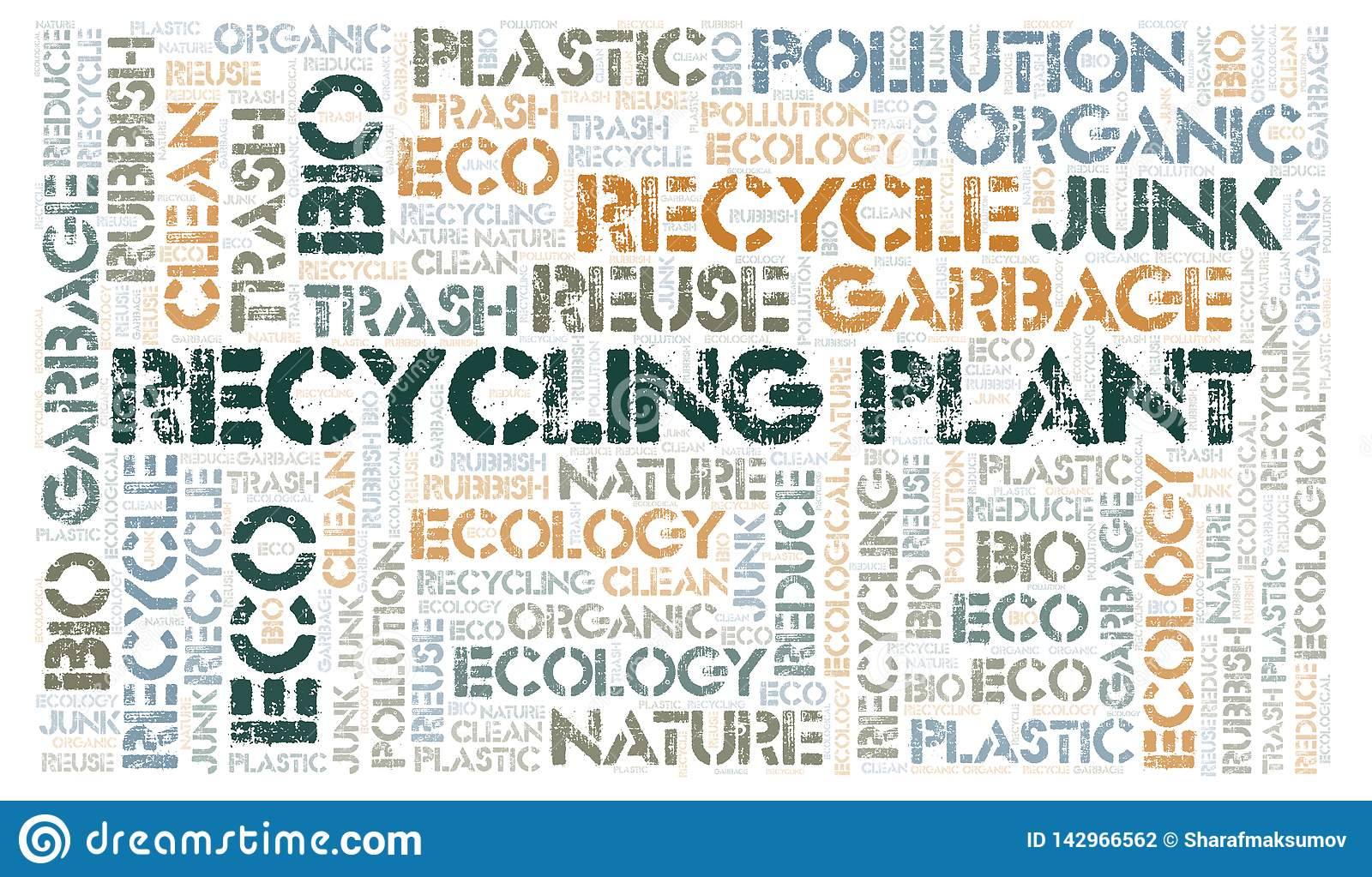 Recycling Plant word cloud
