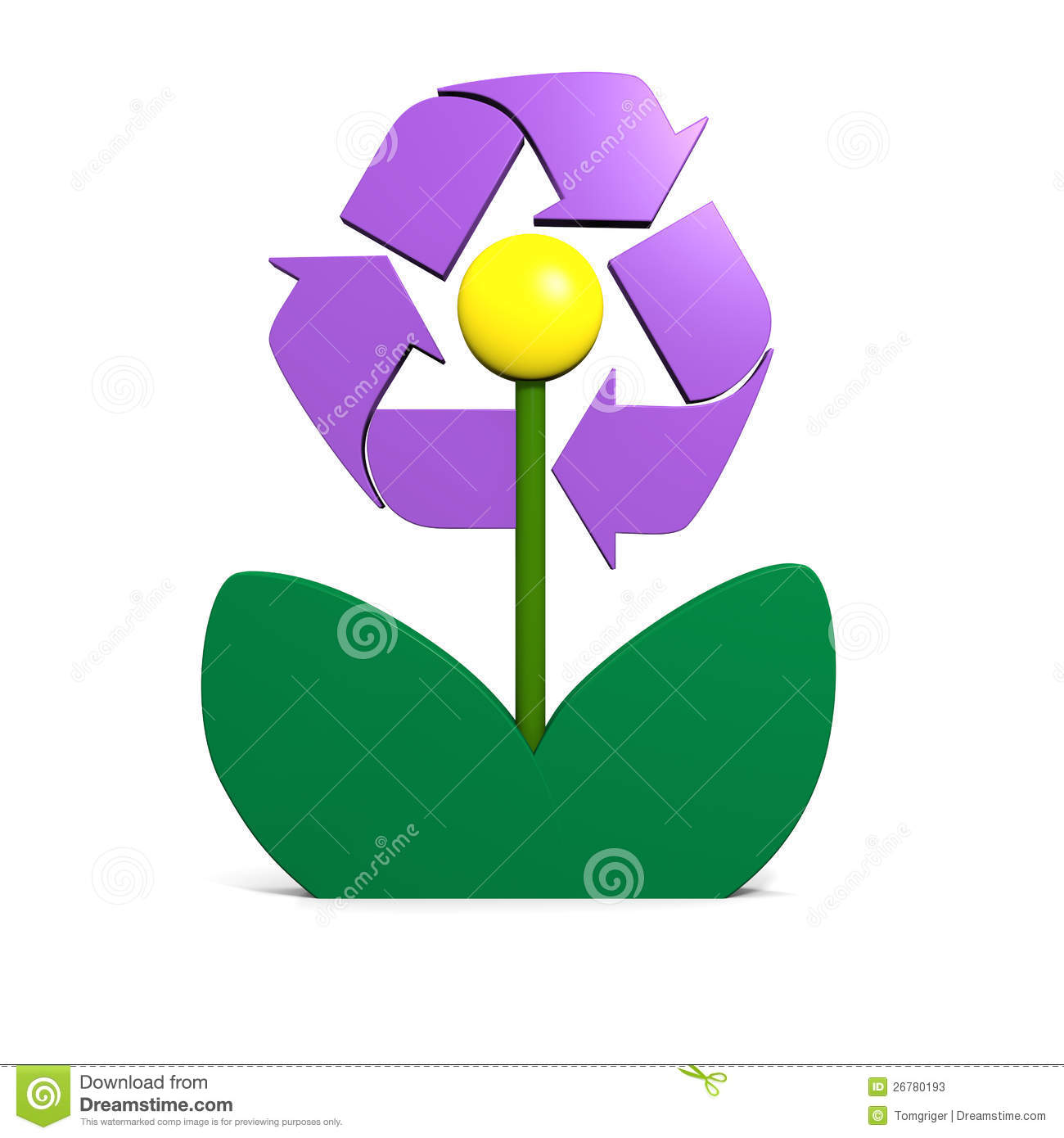 Recycling Symbol Flower Stock s Image