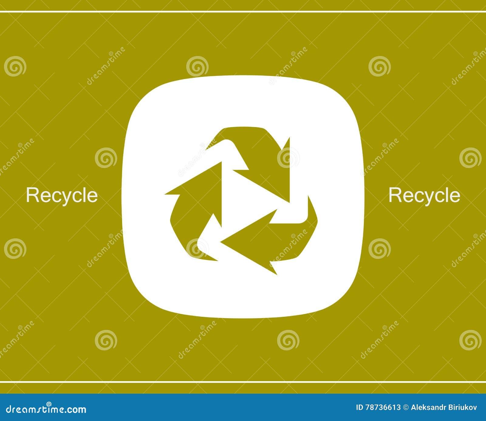 Recycling-Symbol oder Zeichen der Erhaltungsikone