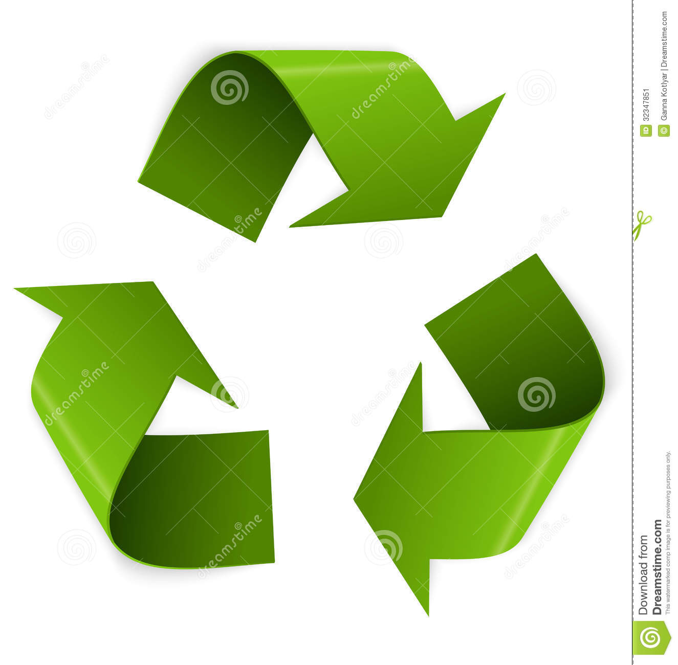 Recycling Symbol Vector Stock Image Image 32347851