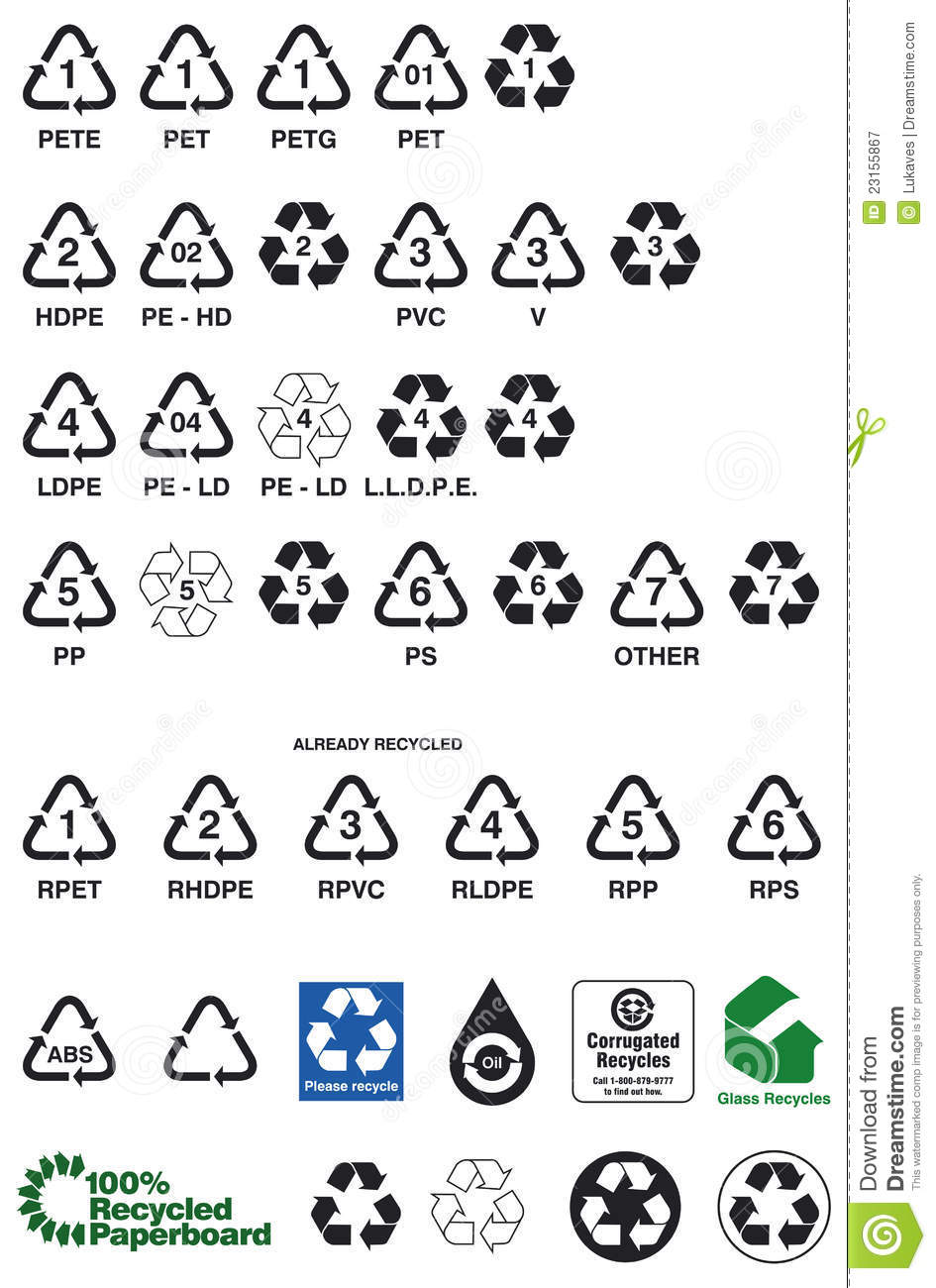 Recycling Symbols Stock Vector Illustration Of Ldpe 23155867