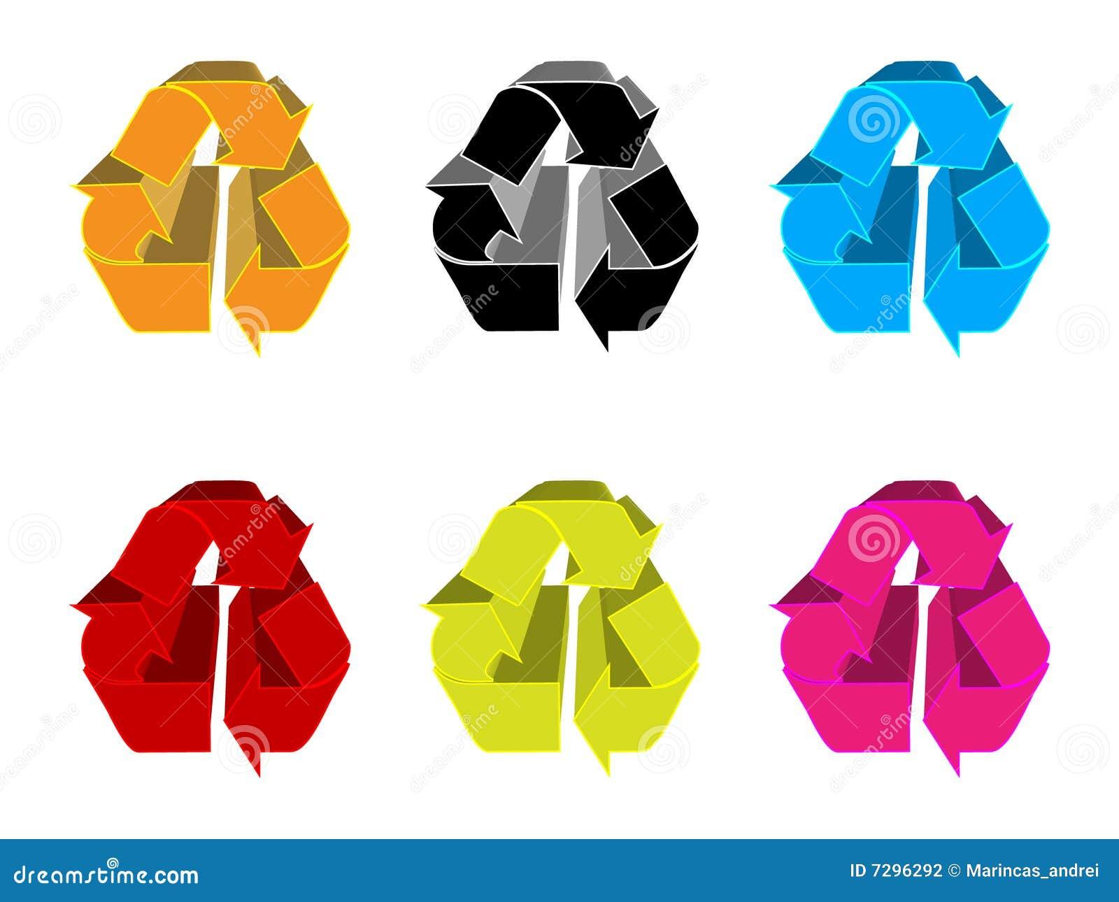 Recycling symbols stock photography image 7296292 - Colores para reciclar ...