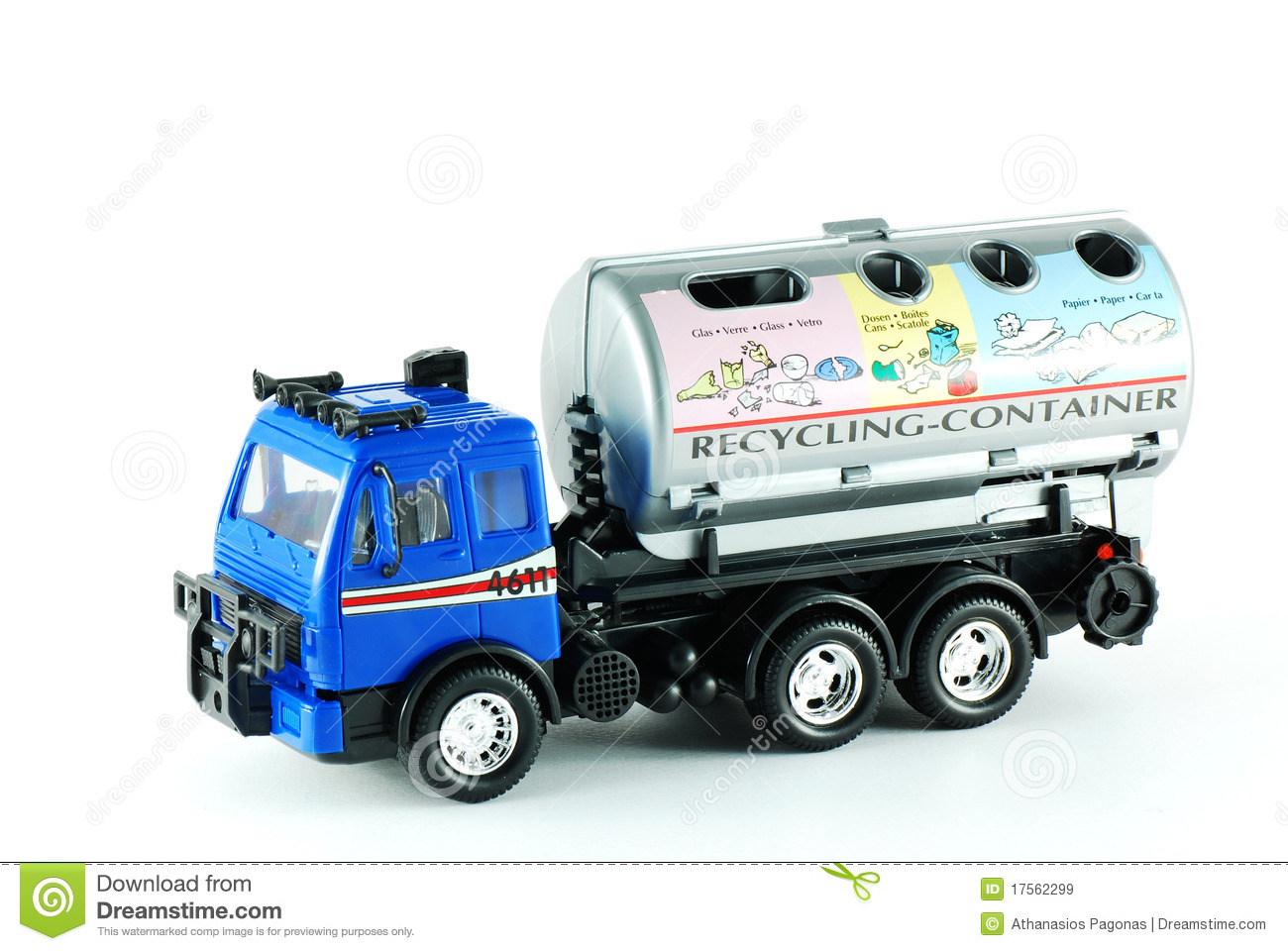 Recycling Truck Toy Royalty Free Stock Images Image