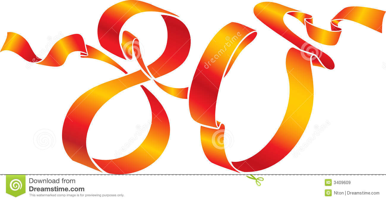 red 80 number stock vector illustration of anniversary 3409609
