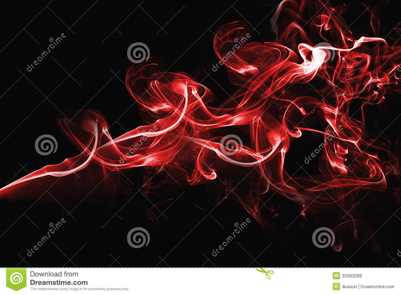 Red Abstract Smoke Design Royalty Free Stock Images - Image: 32083289