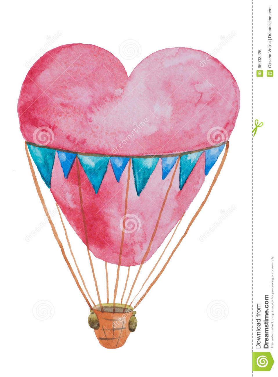 A red air balloon in the form of a heart for travel with a basket download a red air balloon in the form of a heart for travel with a basket thecheapjerseys Choice Image
