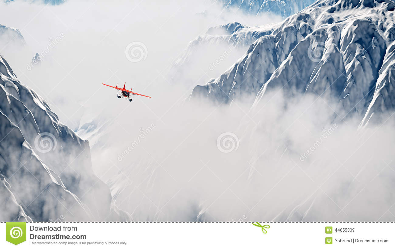 plane clouds and mountains - photo #27