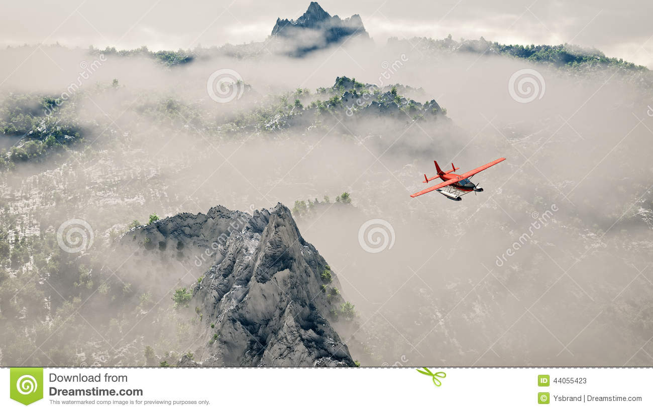 plane clouds and mountains - photo #31