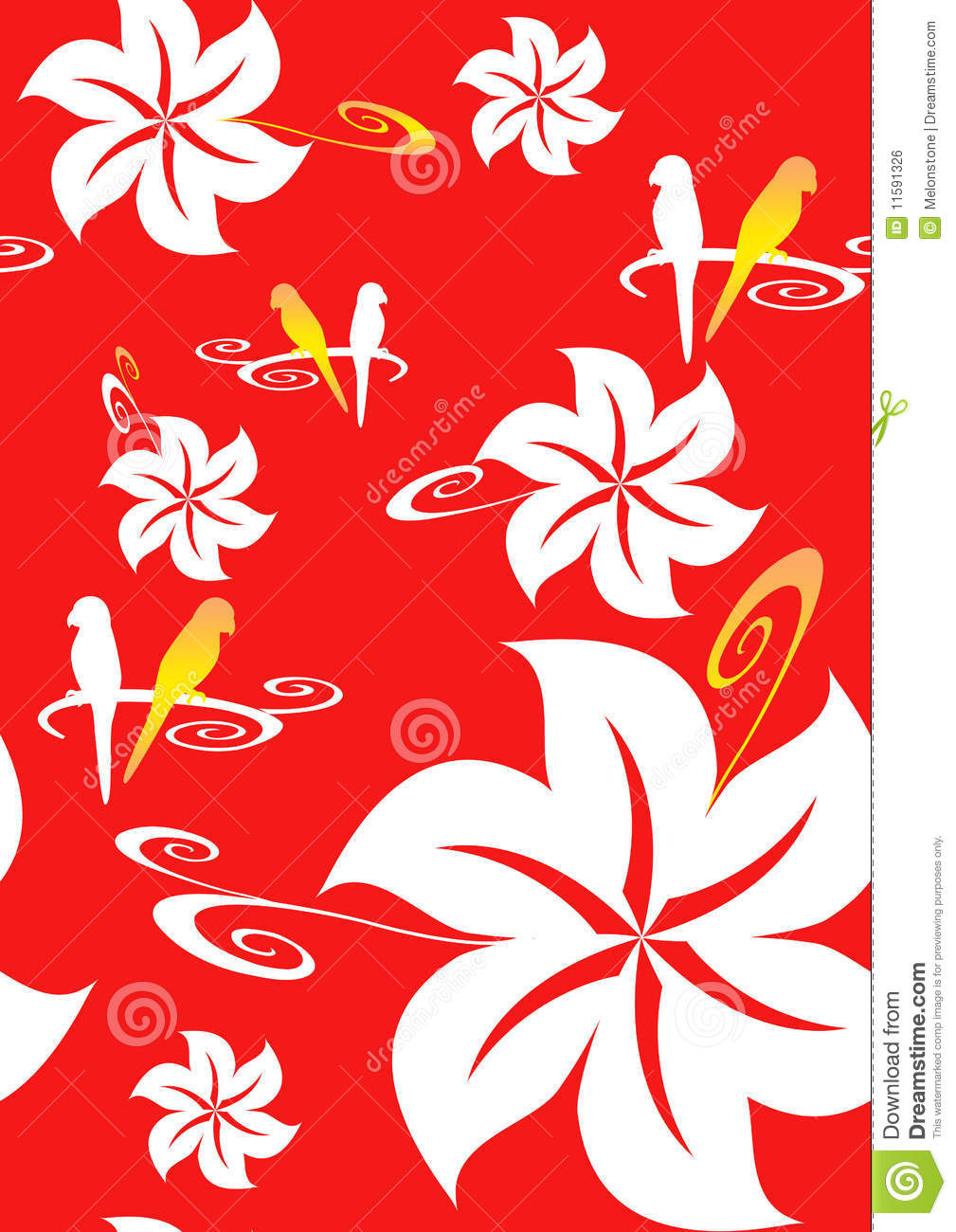 Red Hawaiian Background Stock Illustration Illustration Of Flower