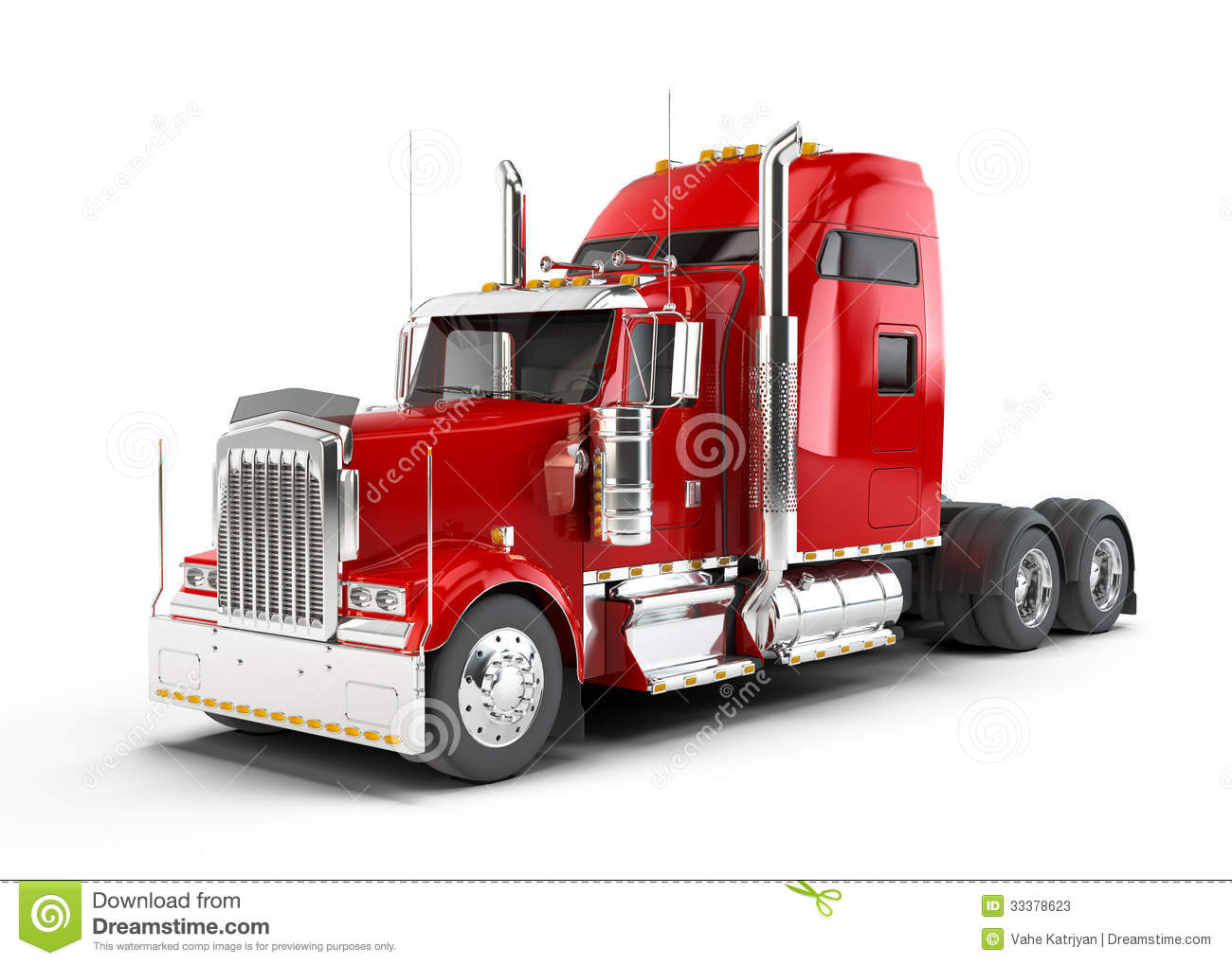 Red American Truck Stock Image Image Of Traffic Auto