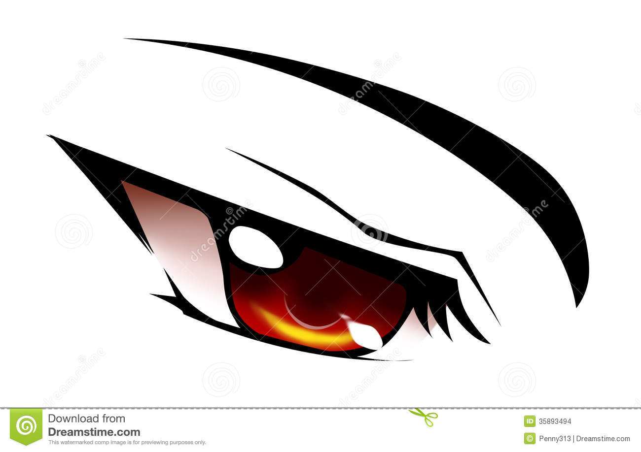 Red Anime Eye Stock Im...