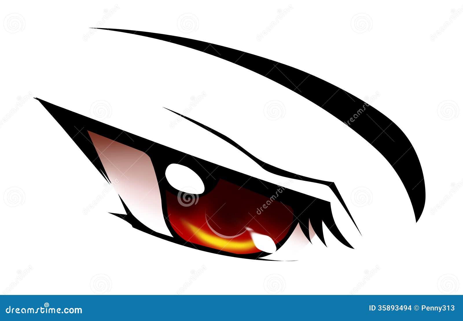 Red anime eye