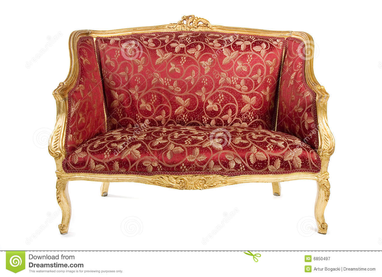 Red Antique Sofa Royalty Free Stock Photography Image