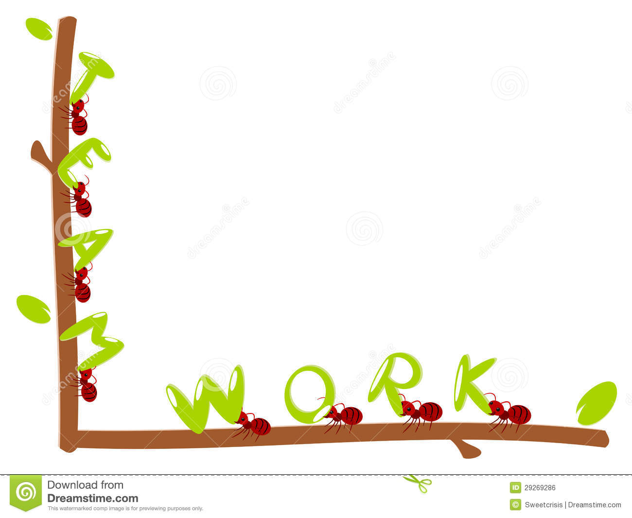 Red Ants Text Teamwork Illustration Royalty Free Stock Image - Image ...