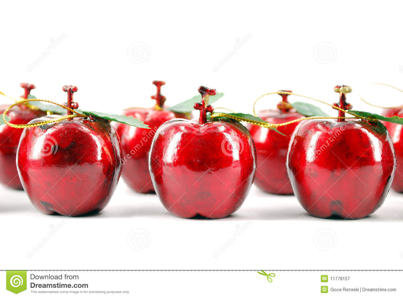 Red apple christmas decoration royalty free stock for Apples for decoration