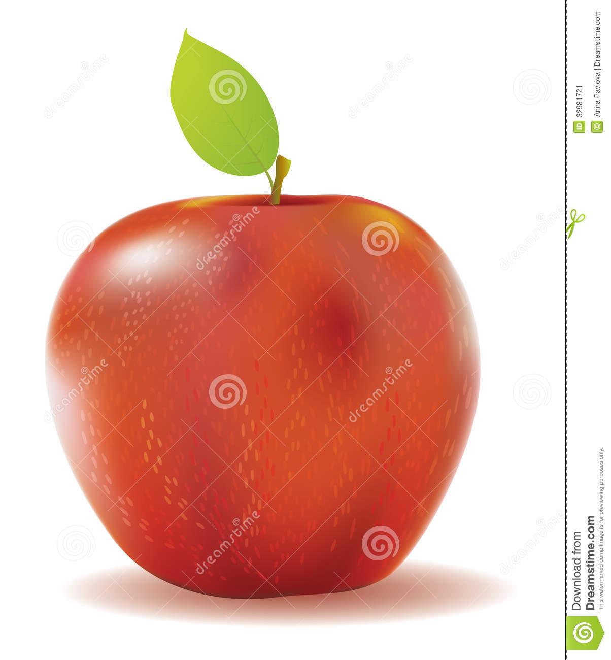 delicious green apple illustration - photo #37