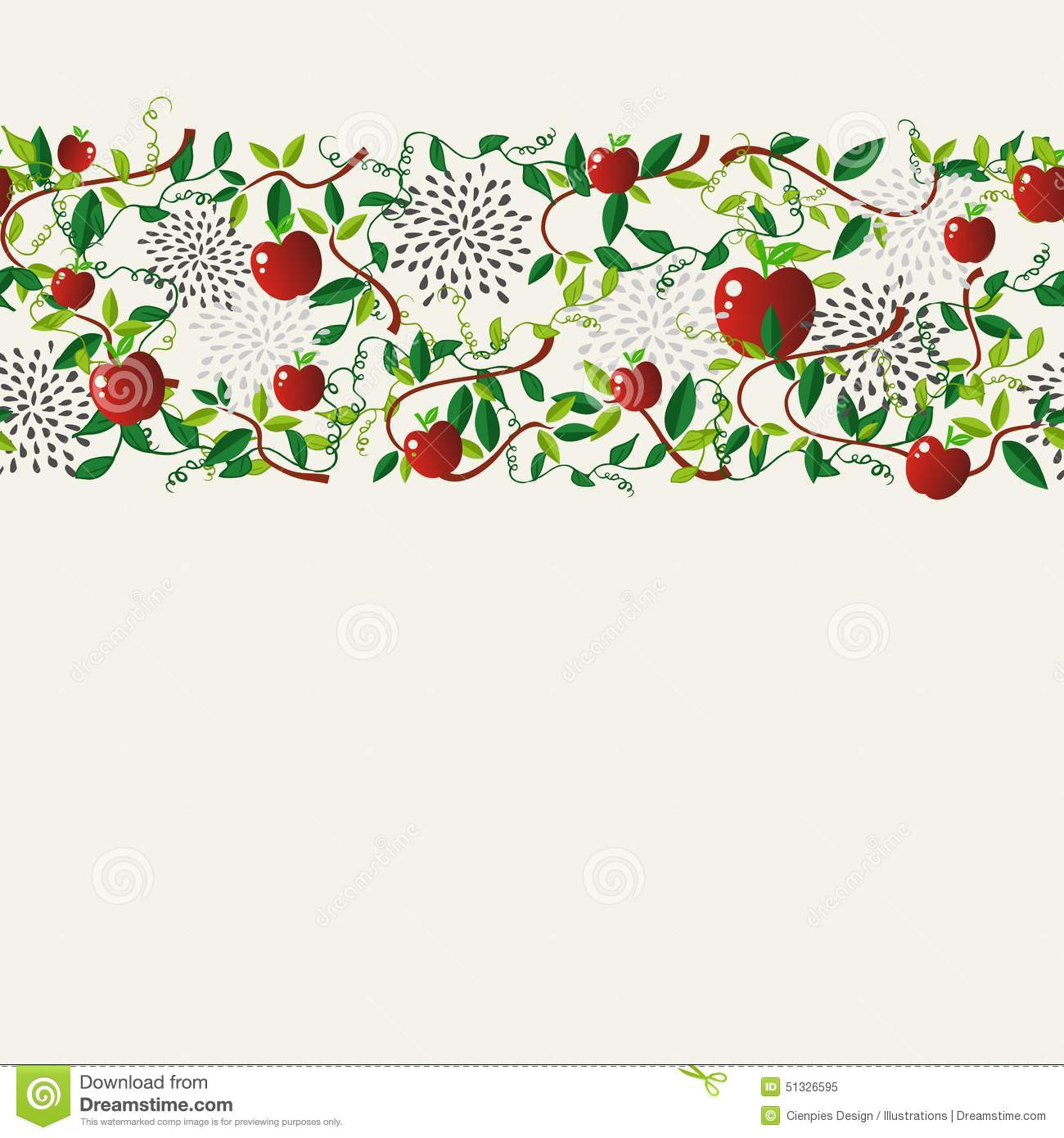 Food Book Cover Vector ~ Red apple food seamless pattern garland stock vector