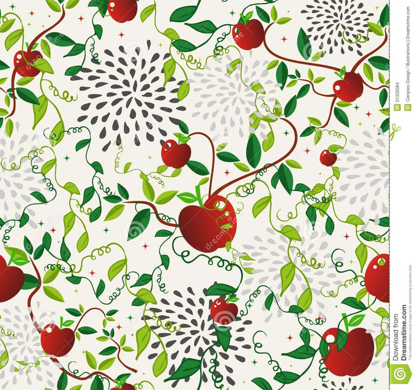 Red Book Cover Pattern : Red apple food seamless pattern stock vector image