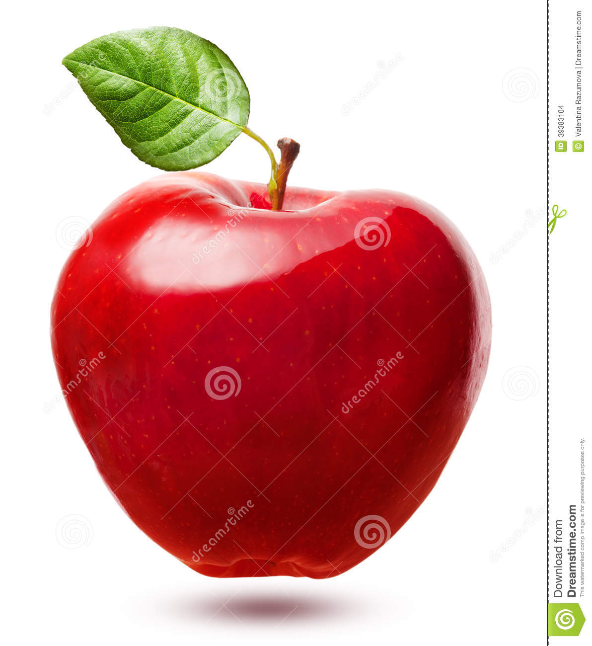 red apple fruit with leaf stock photo image 39383104 Coffee Cup Clip Art Coffee Pot