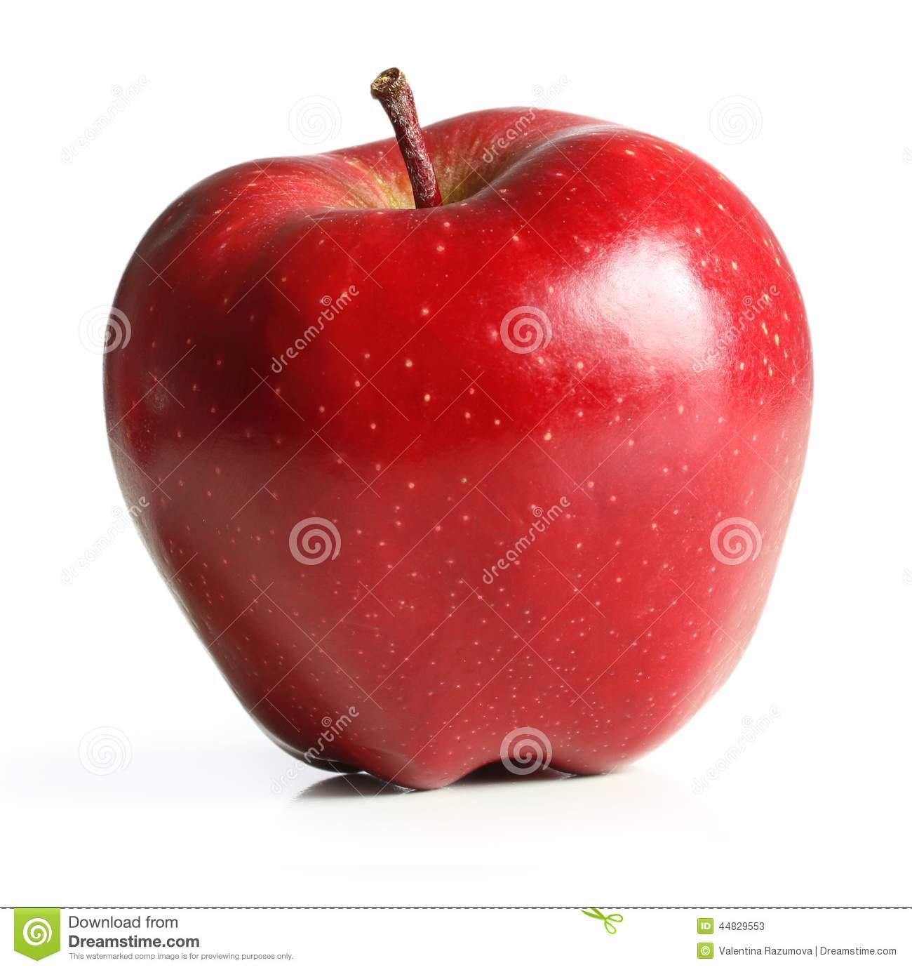 Red Apple Fruit With Leaf Stock Image. Image Of Garden