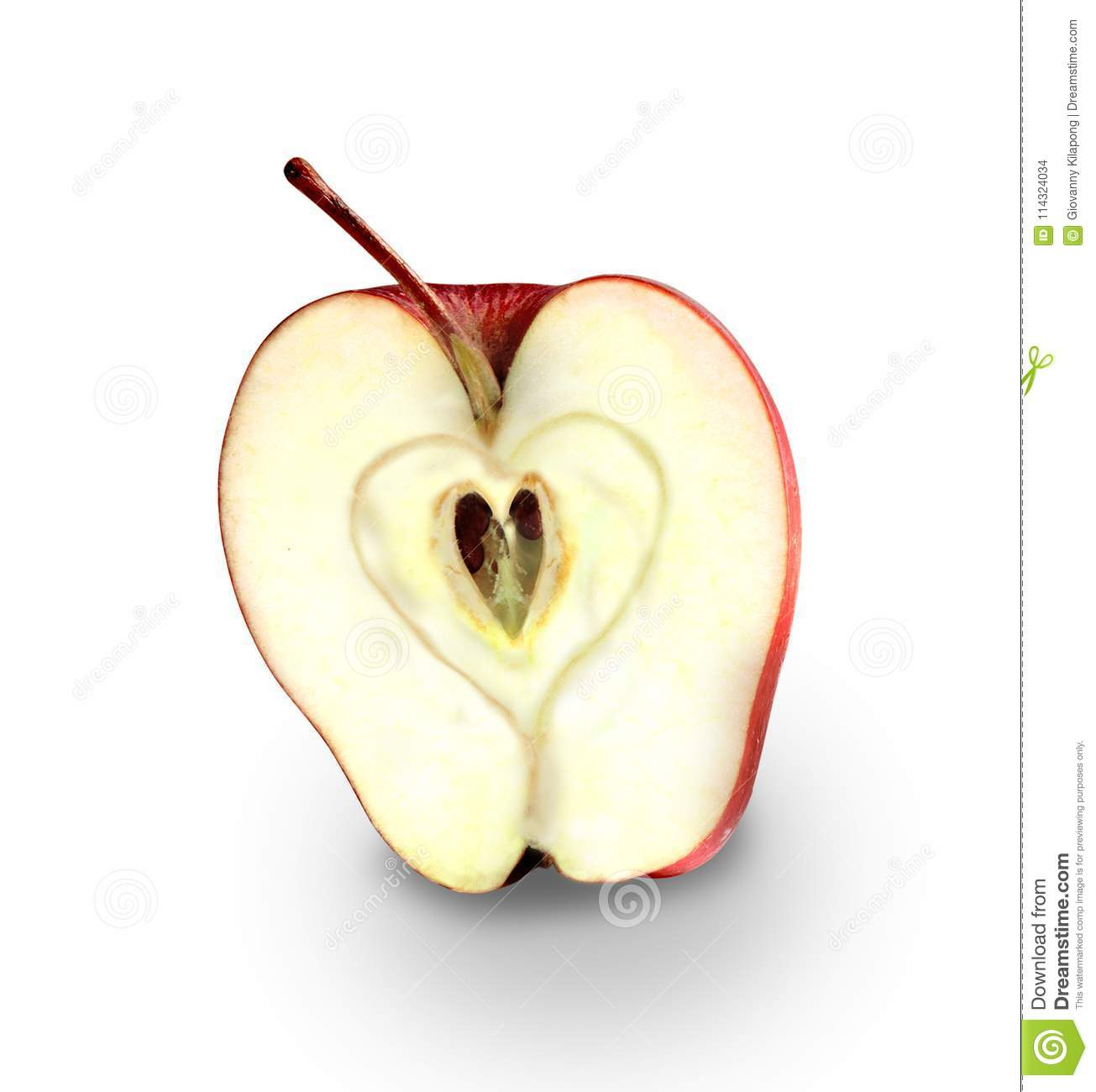 Red Apple With Heart Symbol Apple Love Stock Photo Image Of