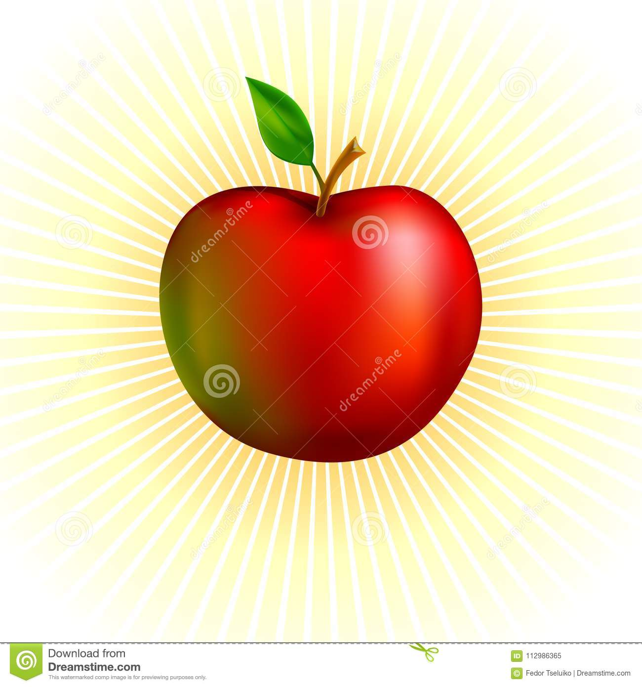 Red apple illustration.