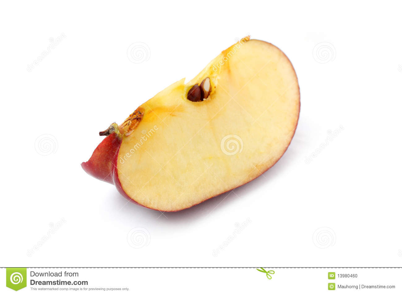 red apple slice. royalty-free stock photo. download red apple slice l