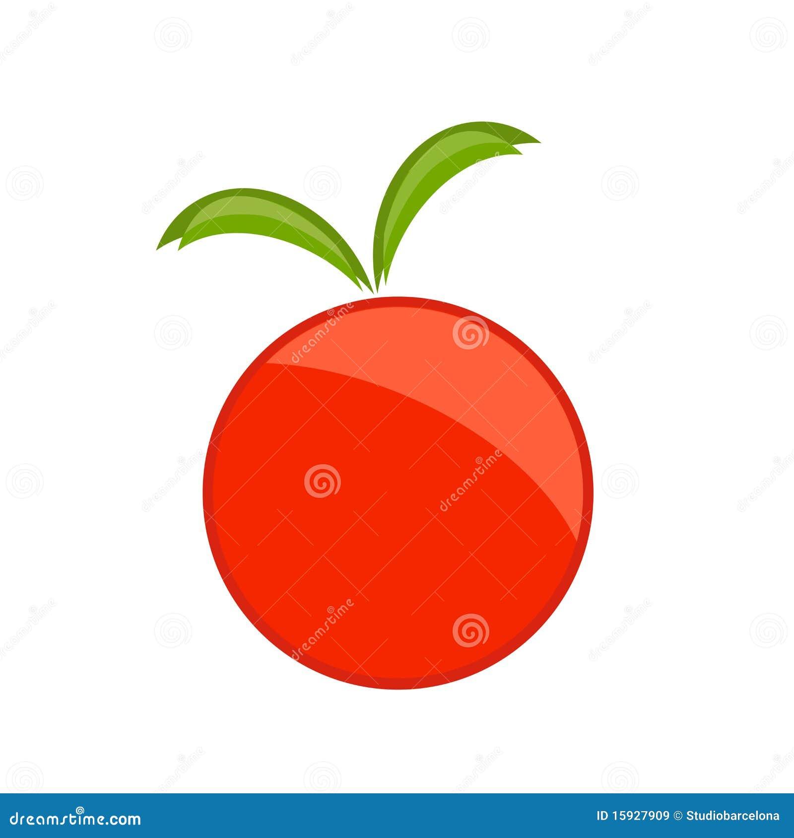 Red Apple Symbol Stock Vector Illustration Of Health 15927909