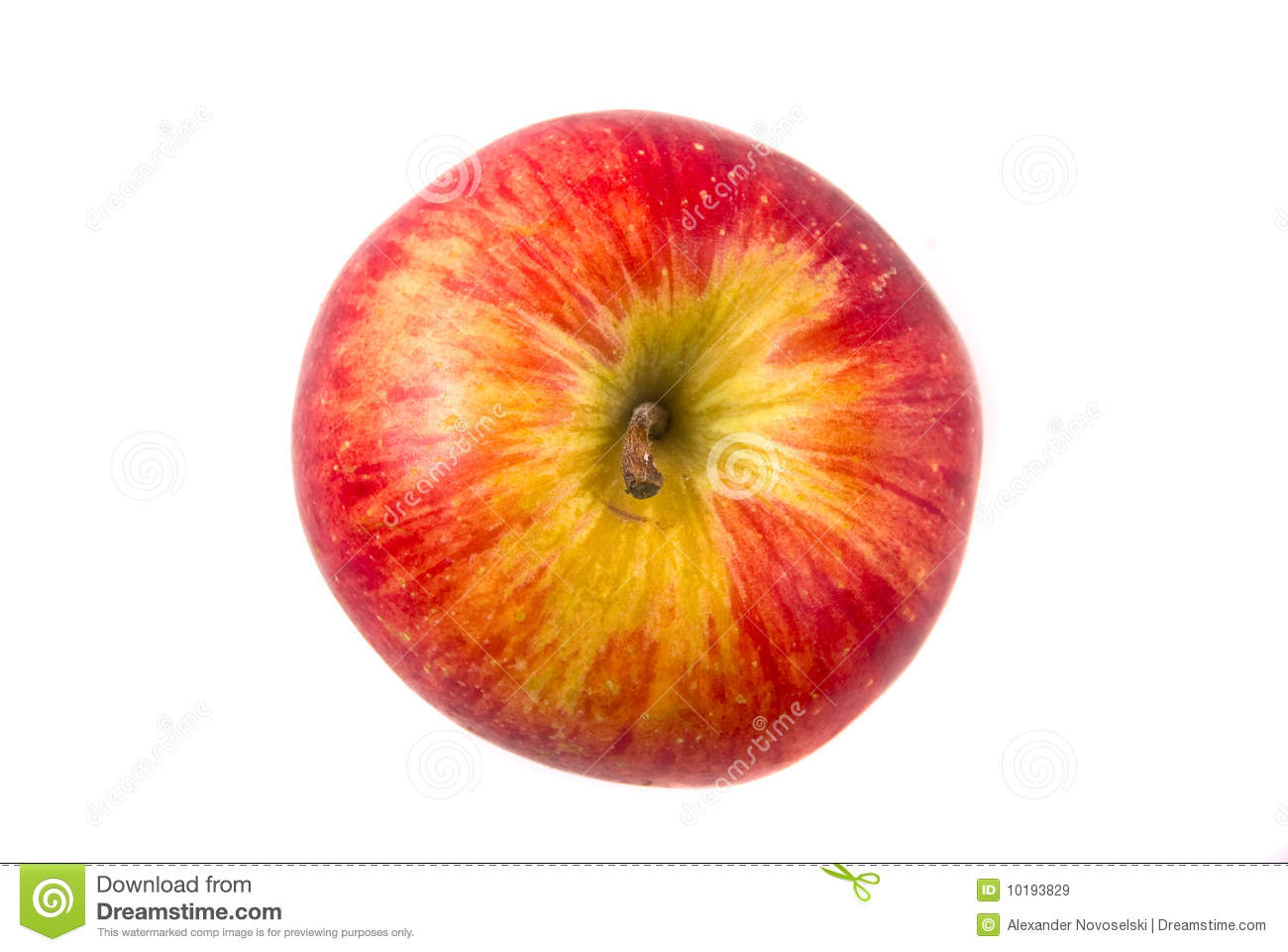 Red Apple Top View Royalty Free Stock Images - Image: 10193829
