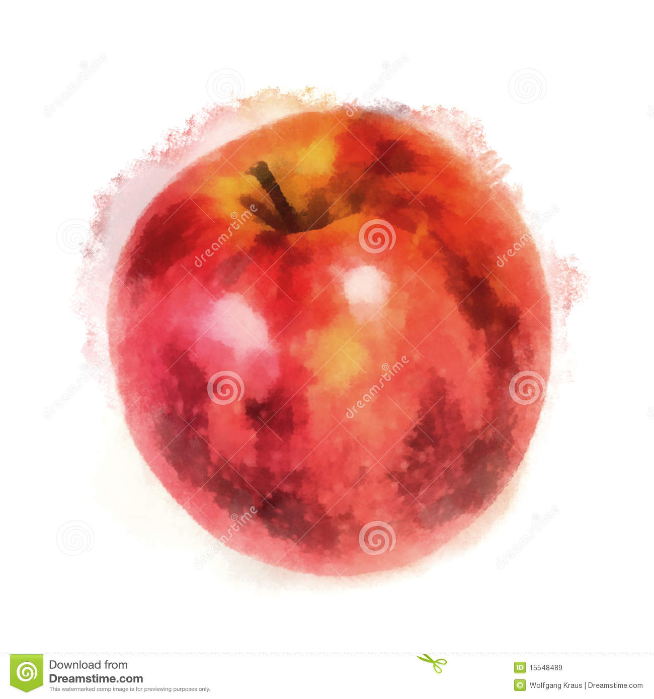Painted Apple White Background