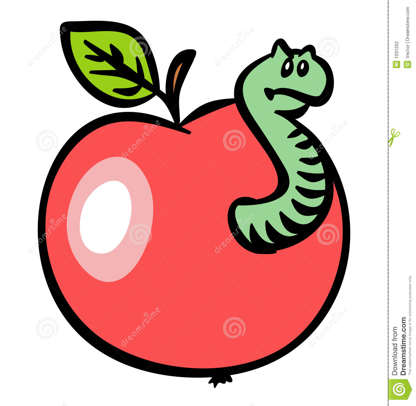 Red Apple With A Worm. JPG And EPS Stock Photography - Image: 1031252