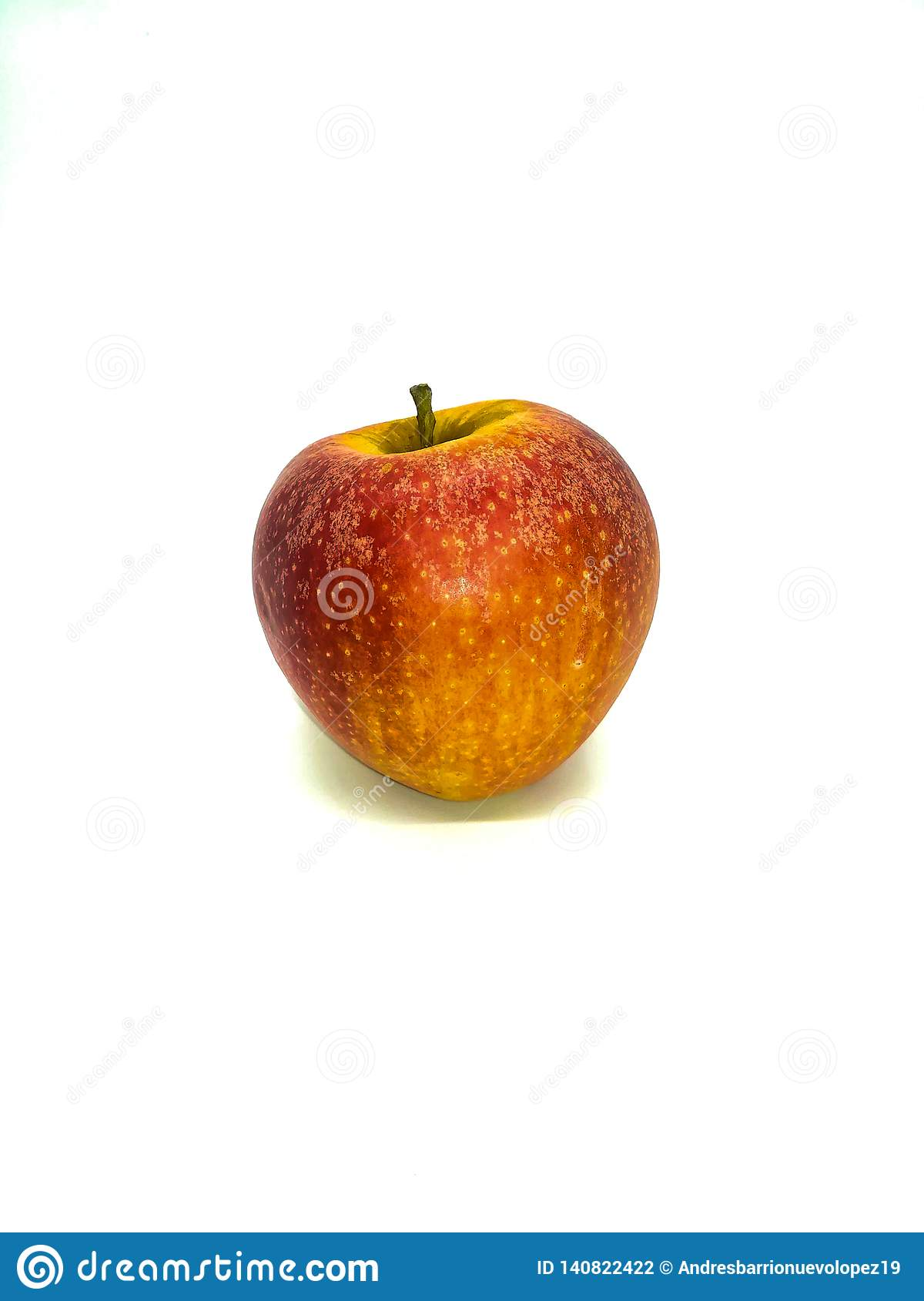 Red apple with yellow specks