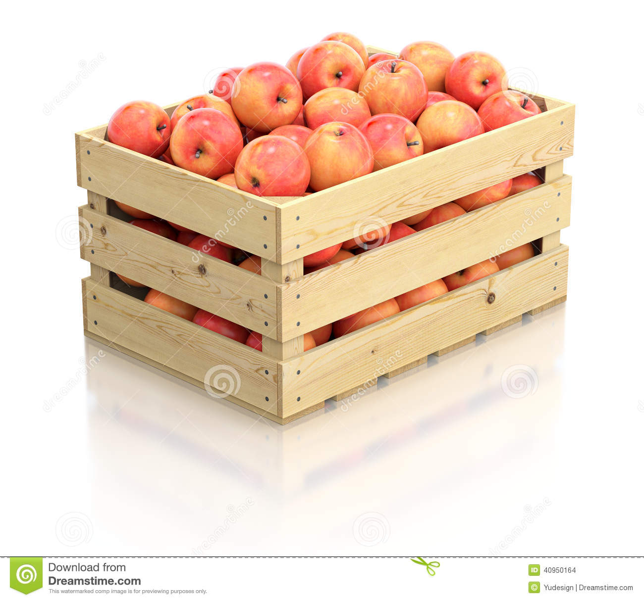 red apples in the wooden crate stock illustration image 40950164. Black Bedroom Furniture Sets. Home Design Ideas