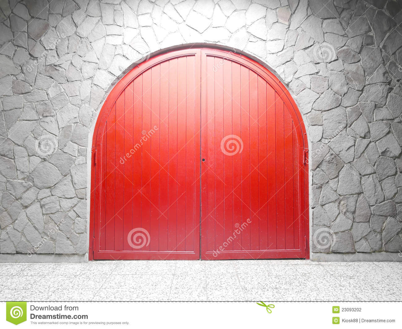 Red Arch Door Stock Photo Image Of Ancient Exterior