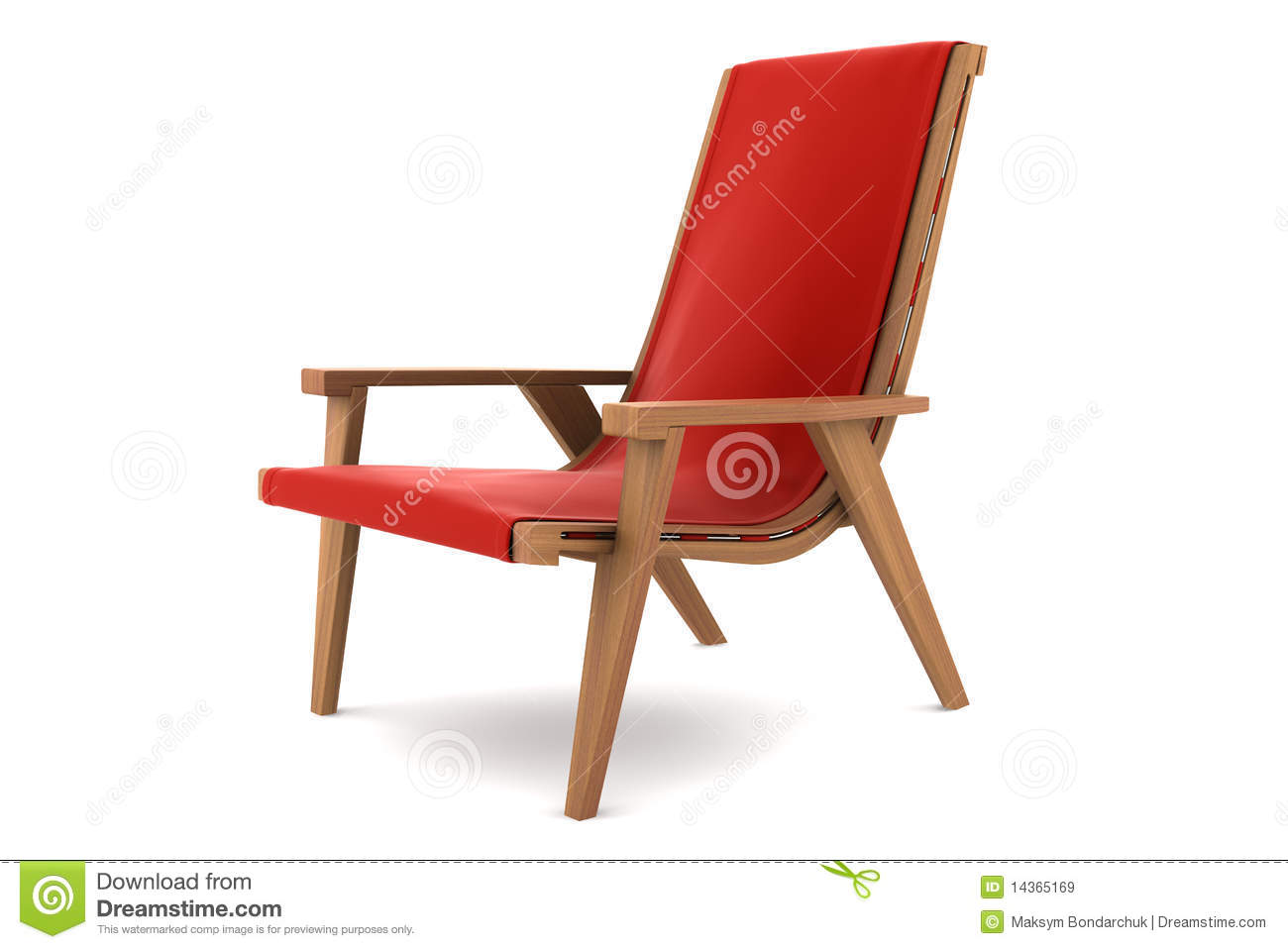 Red Armchair Isolated On White Background Royalty Free ...