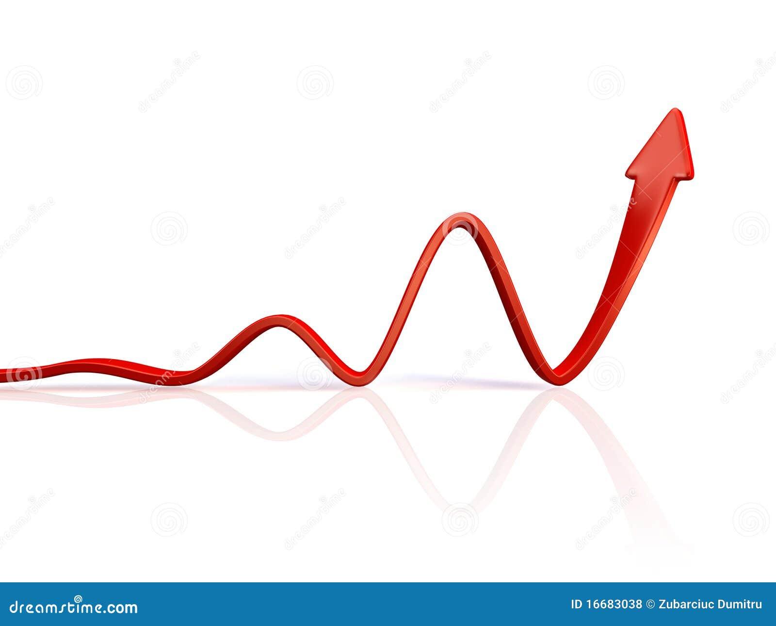 Red Arrow Stock Illustration  Illustration Of Gain