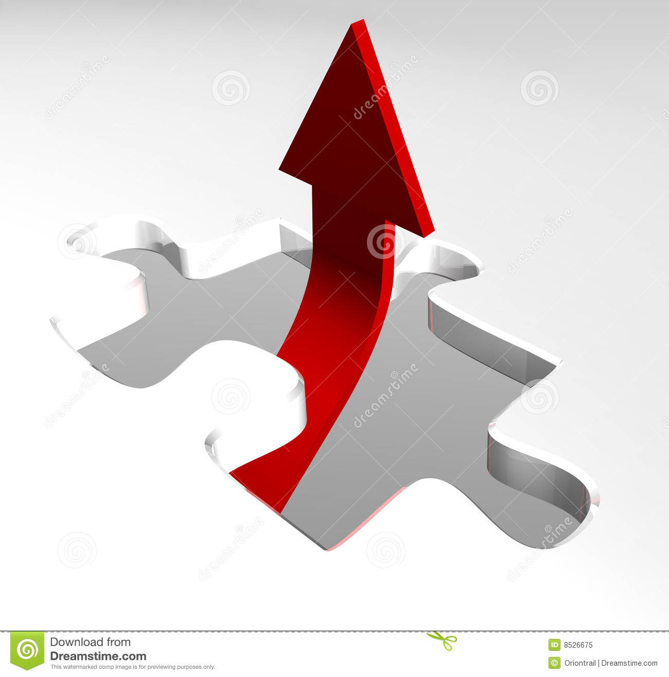 Red Arrow Showing Business Growth Stock Illustration ...