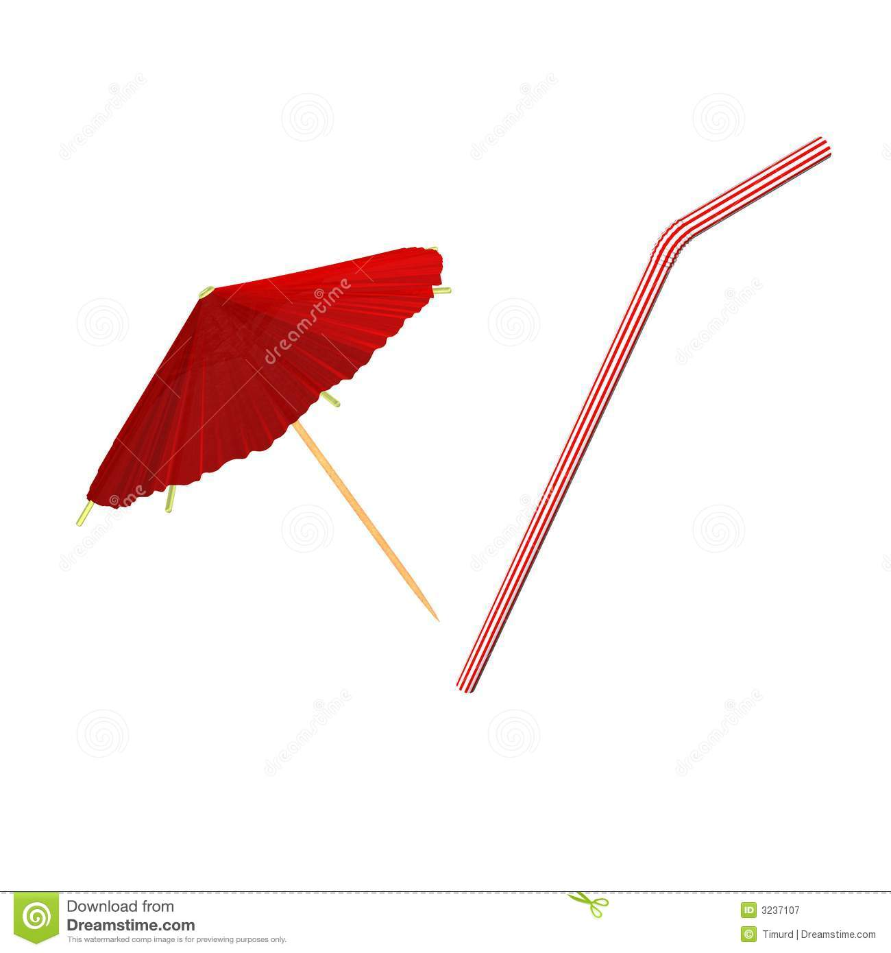 red asian cocktail umbrella royalty free stock photography