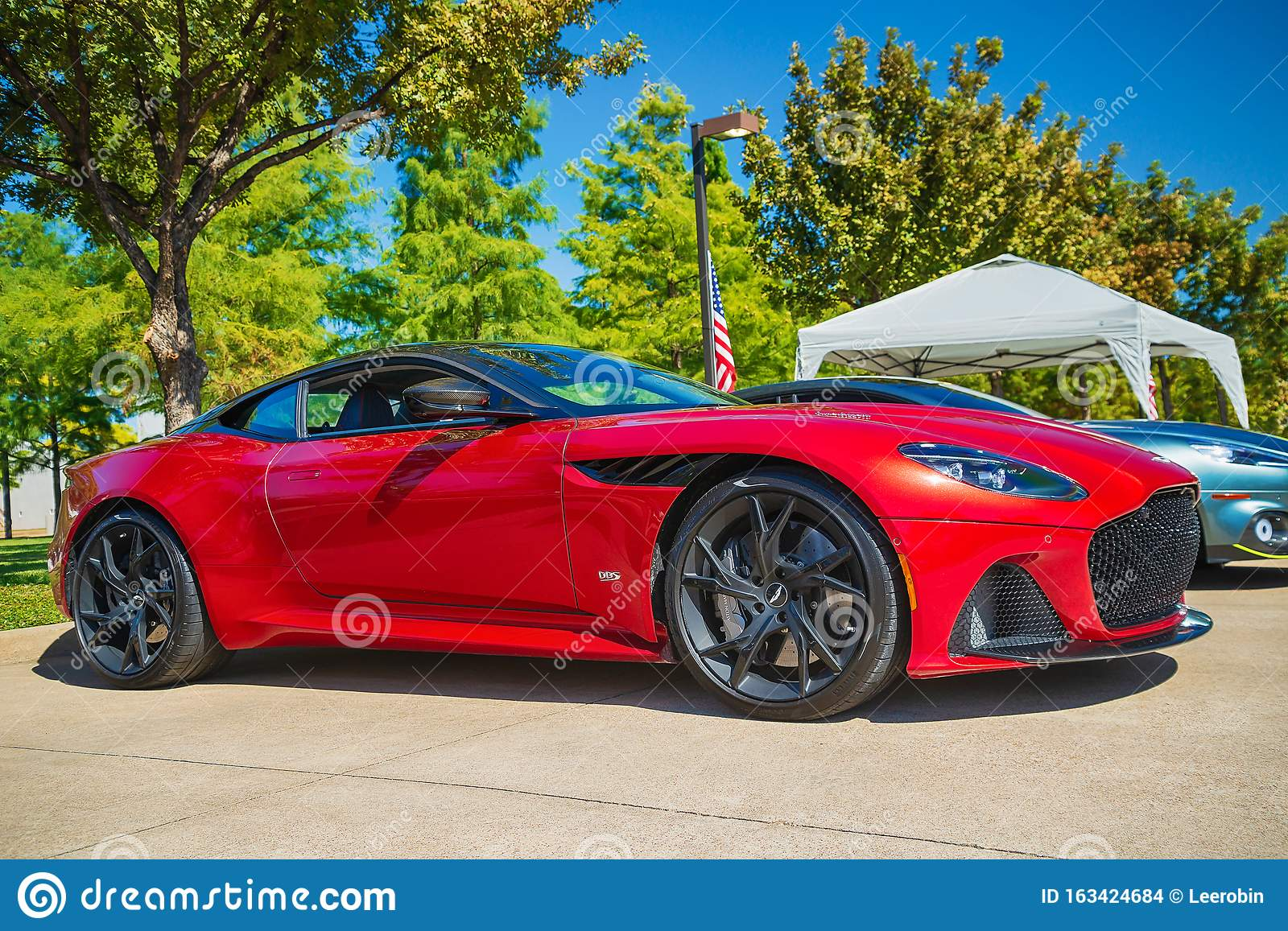 Red Aston Martin Dbs Superleggera Sports Car Editorial Stock Image Image Of Aston High 163424684