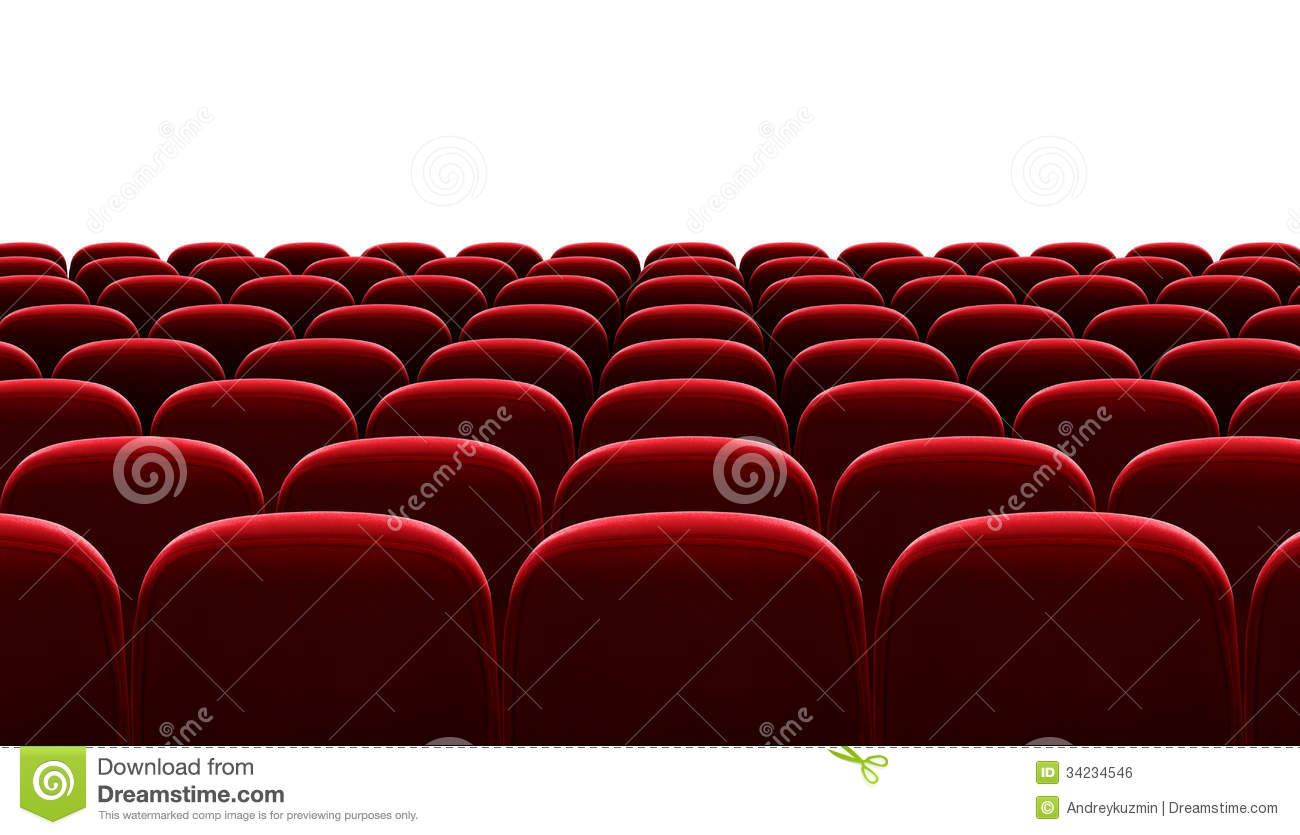 Red Auditorium Chairs Isolated Stock Illustration Image