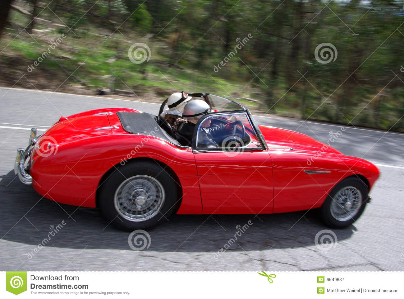 Red Austin Healey Roadster