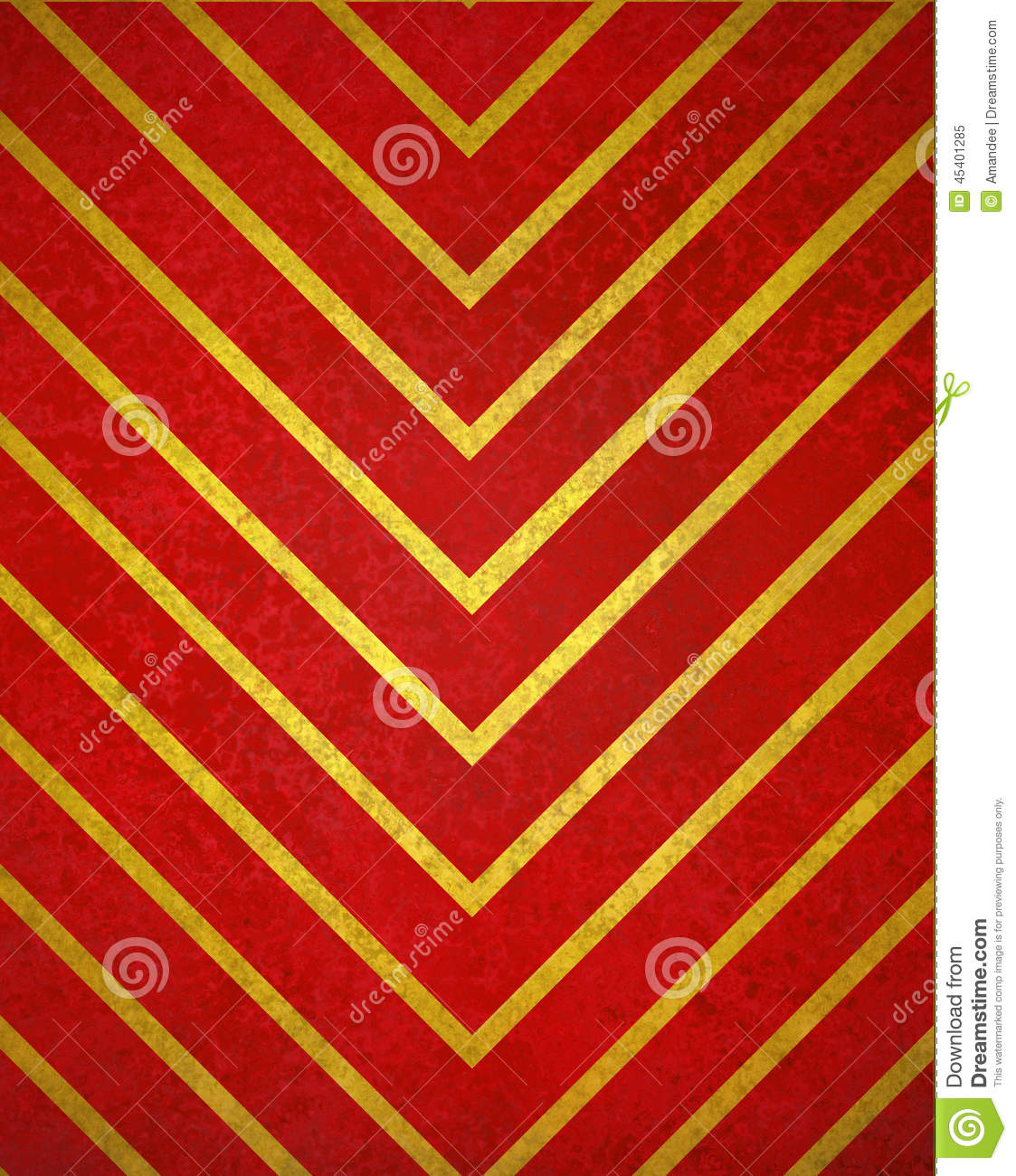 Red Background Gold Chevron Pattern Design With Texture