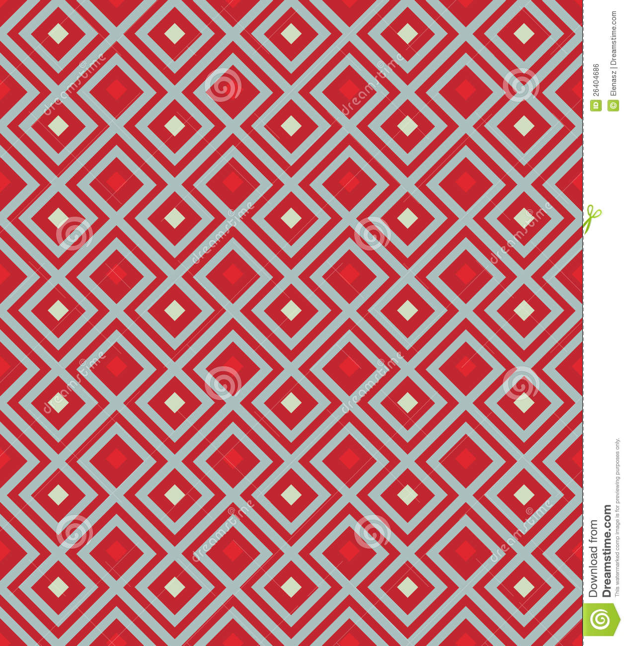 Red background with rhombus