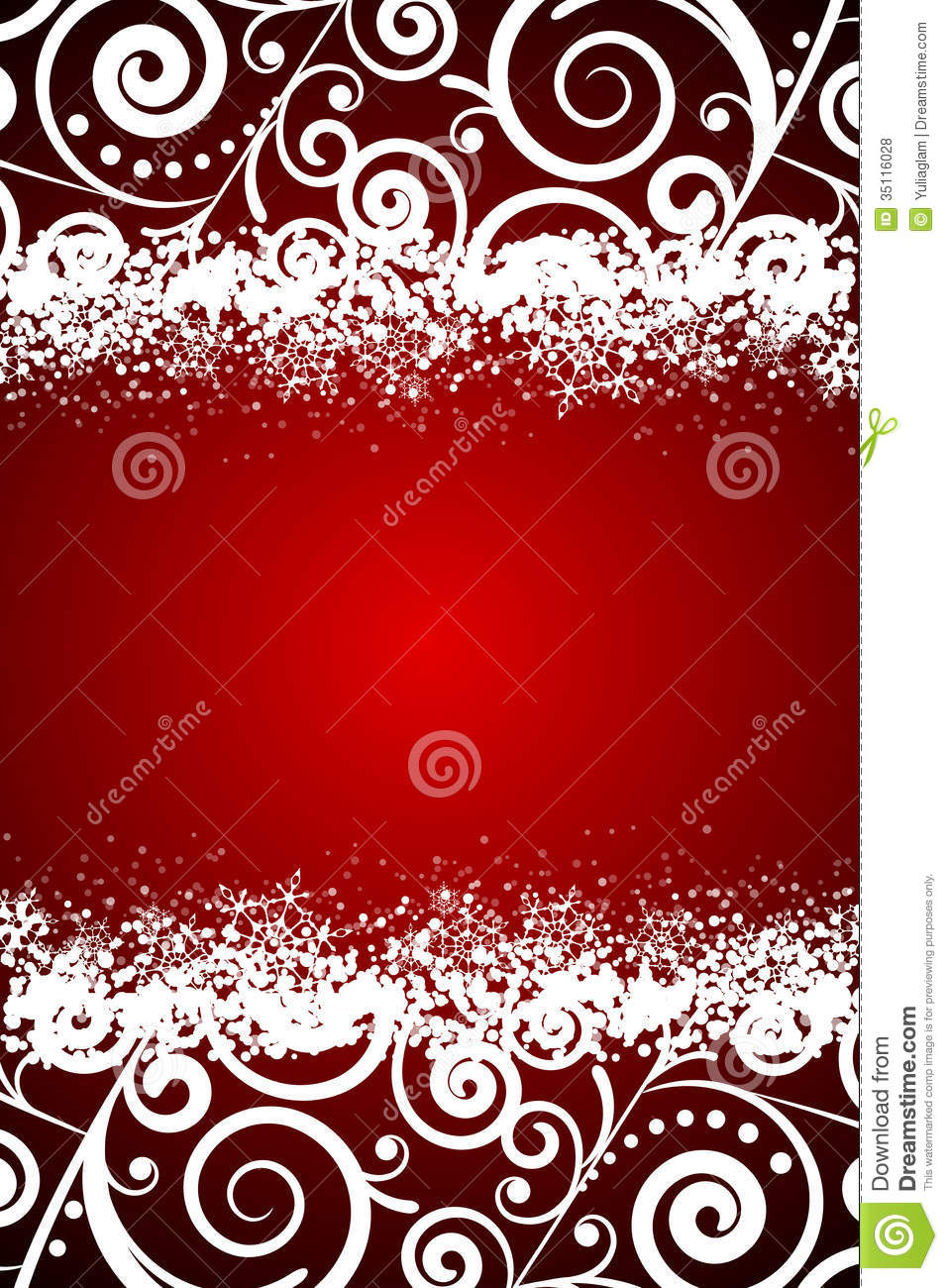 Floral Decorations red background with white floral decorations and s royalty free