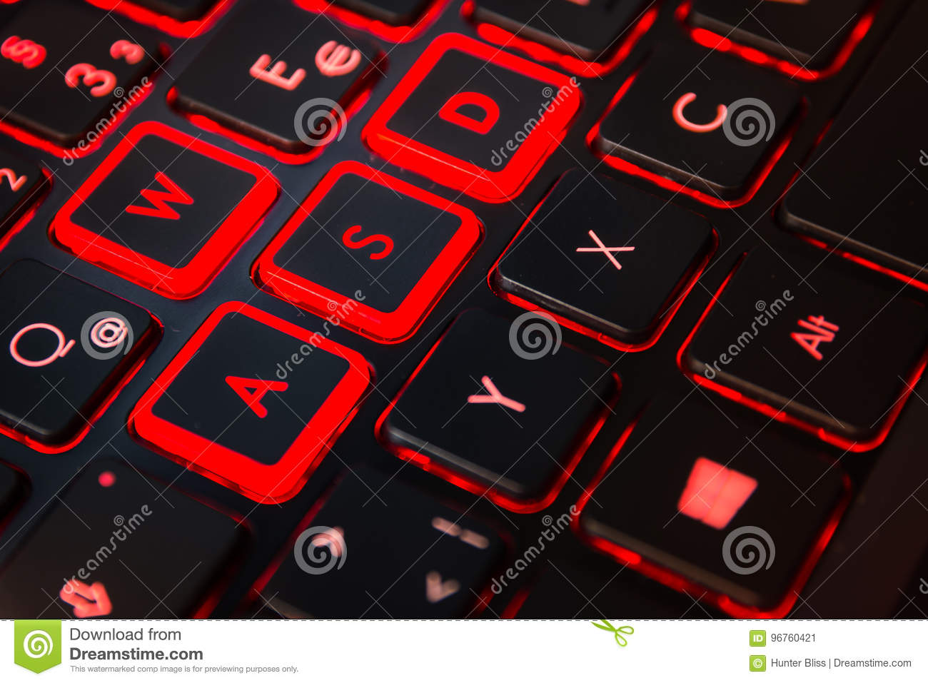 Red Backlit Computer Gaming Keyboard Action Gamer Equipment