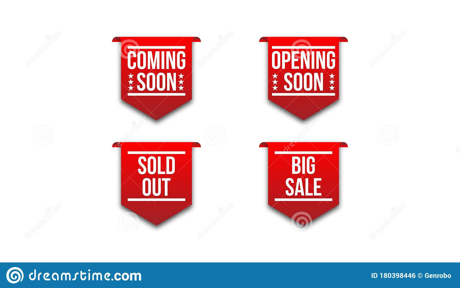 Red Badge Ribbon Coming Soon Opening Soon Sold Out Big Sale Stock Illustration Illustration Of Circle Icon 180398446