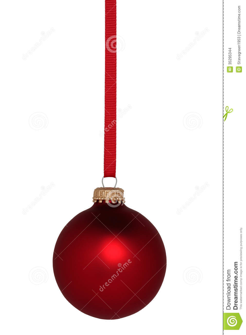 Red Ball Christmas Ornament Stock Photo Image Of Ornament