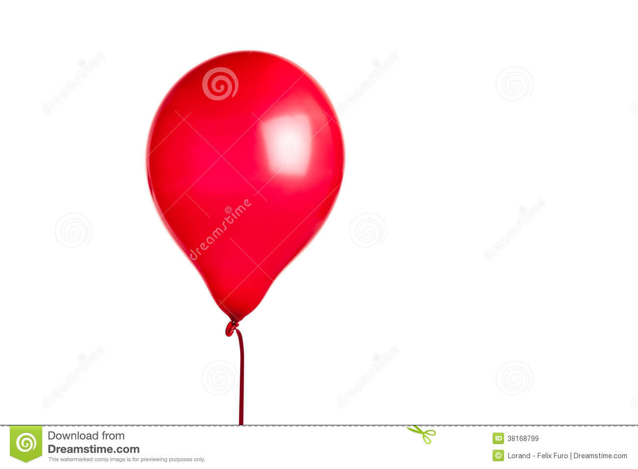 Red Balloon Royalty Free Stock Images - Image: 38168799