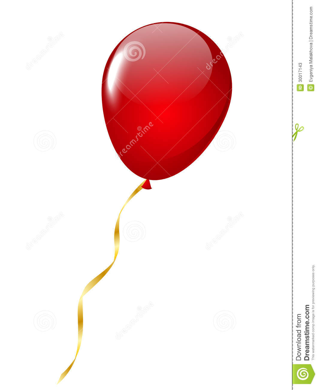 Red Balloon Stock Photos - Image: 30017143