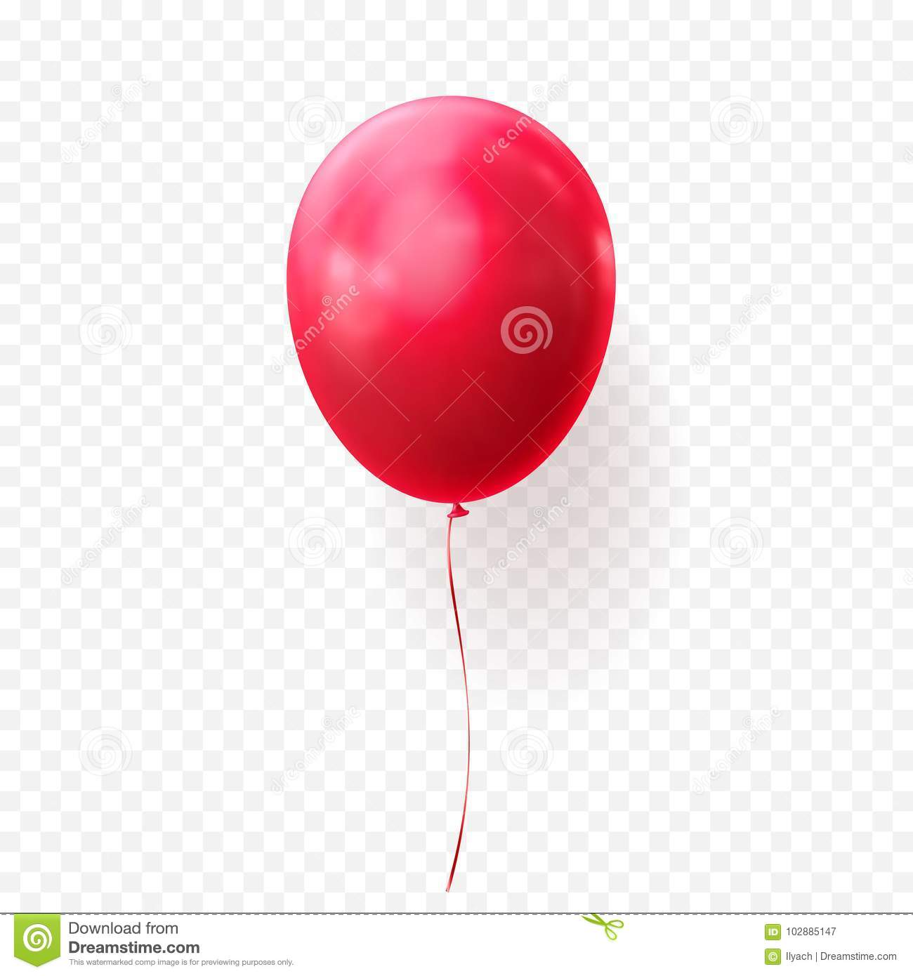 Pennywise Hintergrund: Red Balloon Vector Transparent Background Glossy Realistic